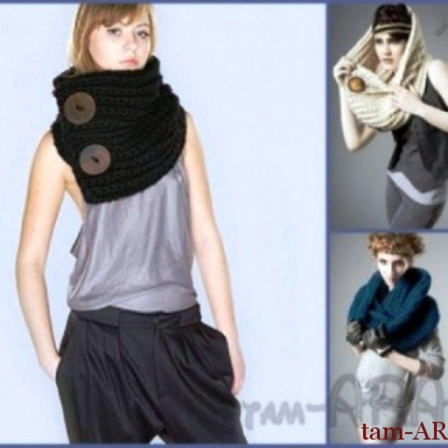 вязаные оригинальные шарфы