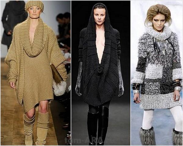 вязаные джемпера и мода