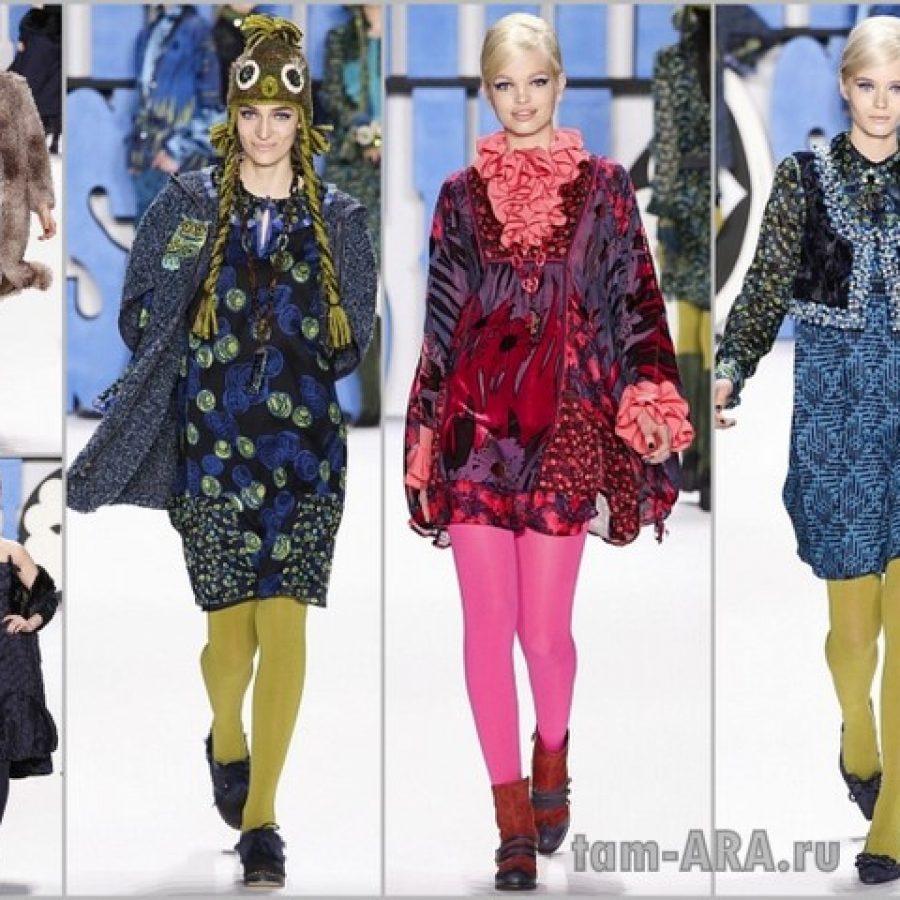 коллекция дизайнера Анна Сьюи на неделе моды в Нью Йорке