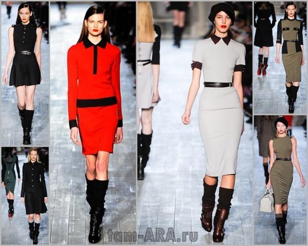 Дизайнер Виктория Бекхем, коллекция на неделе моды в Нью-Йорке