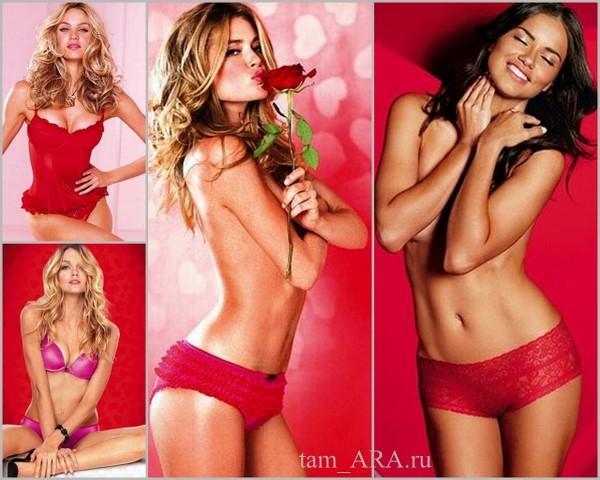 Белье Victoria's Secret 2012 - коллекция в День святого Валентина