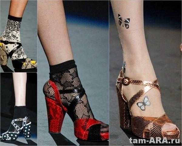 Anna Sui, модная обувь весна-лето 2012