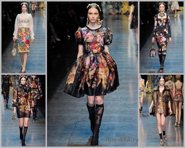 Dolce&Gabbana осенне-зимняя коллекция одежды в Милане