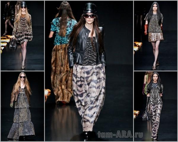 Roberto Cavalli коллекция одежды, Неделя моды в Милане 2012-2013