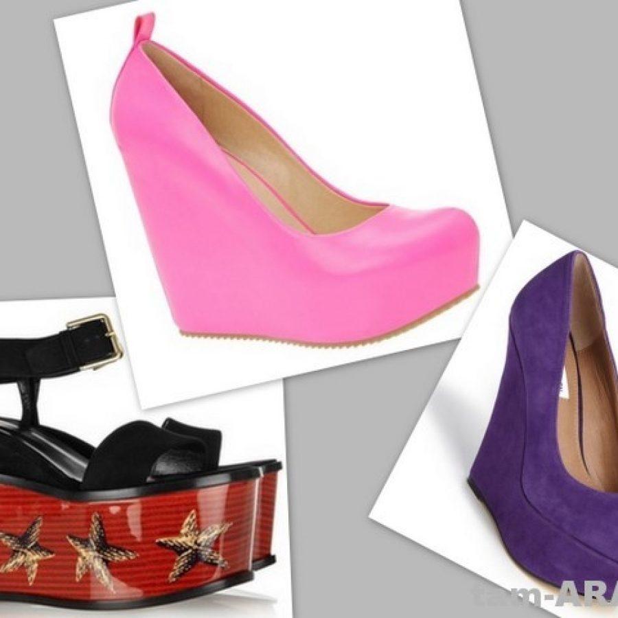 обувные тренды, туфли на платформе Yves Saint Laurent, Aldo, Steve Madden