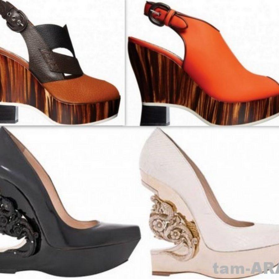 обувь дизайнеров Alexander McQueen и Roberto Cavalli