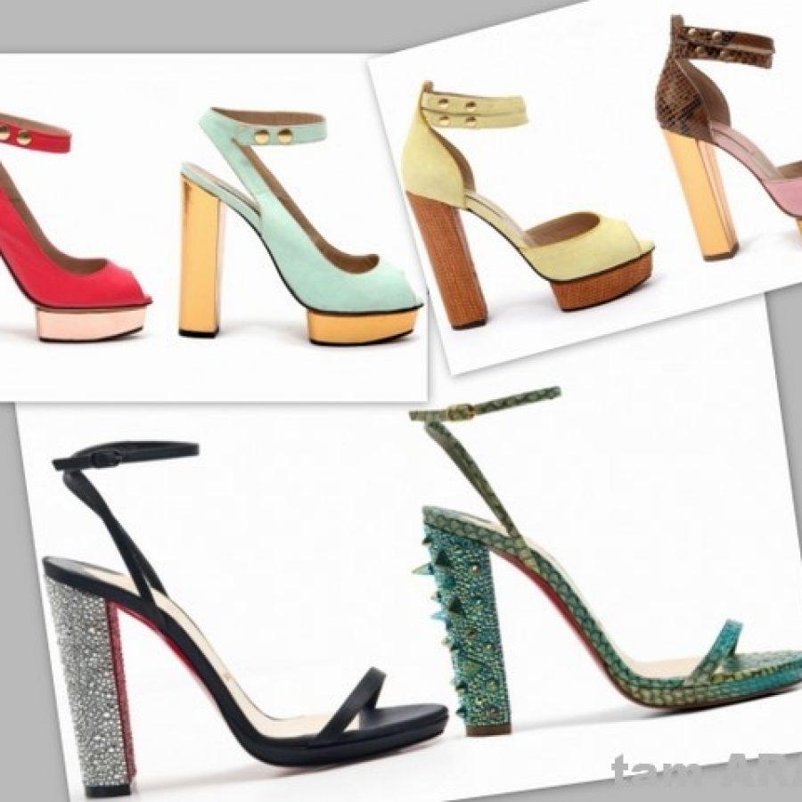 модная обувь от Jill Stuart, Christian Louboutine