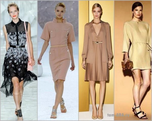 Модные платья сезона весна-лето