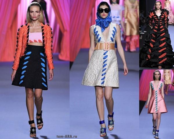 Экстравагантные платья весна-лето 2012