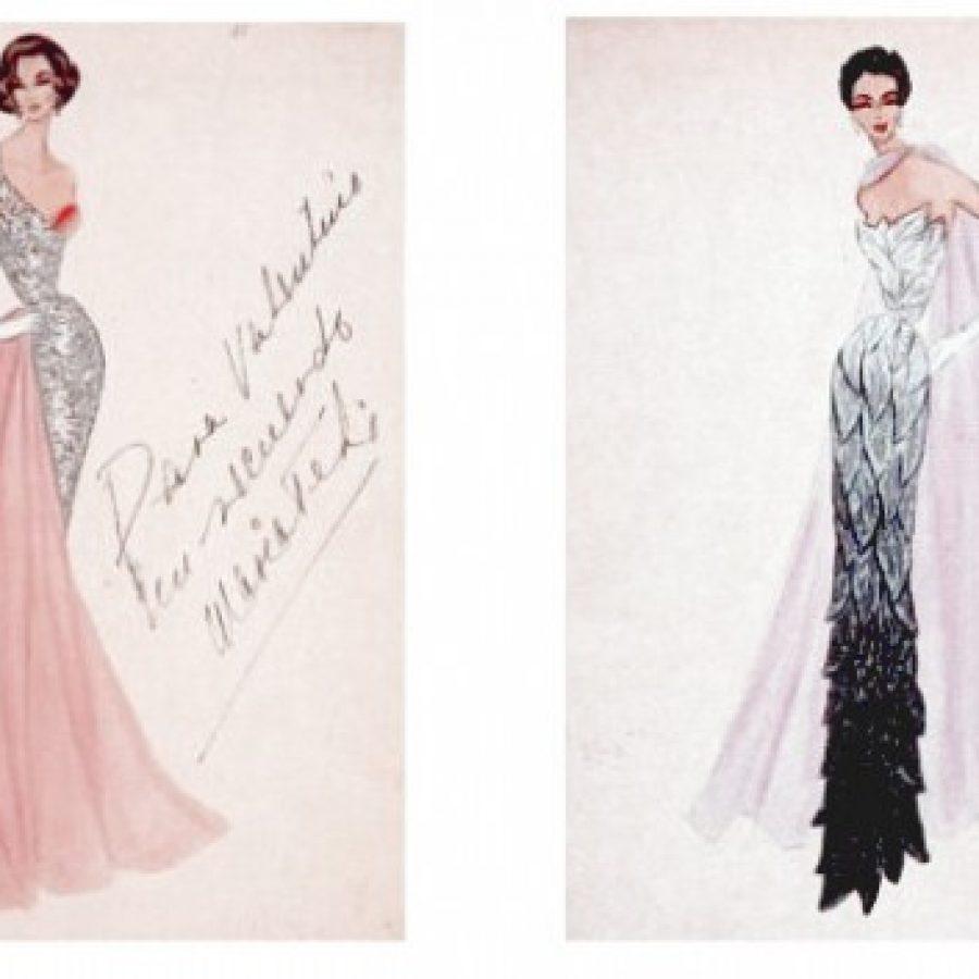 эскизы, платья, кутюрье Valentino