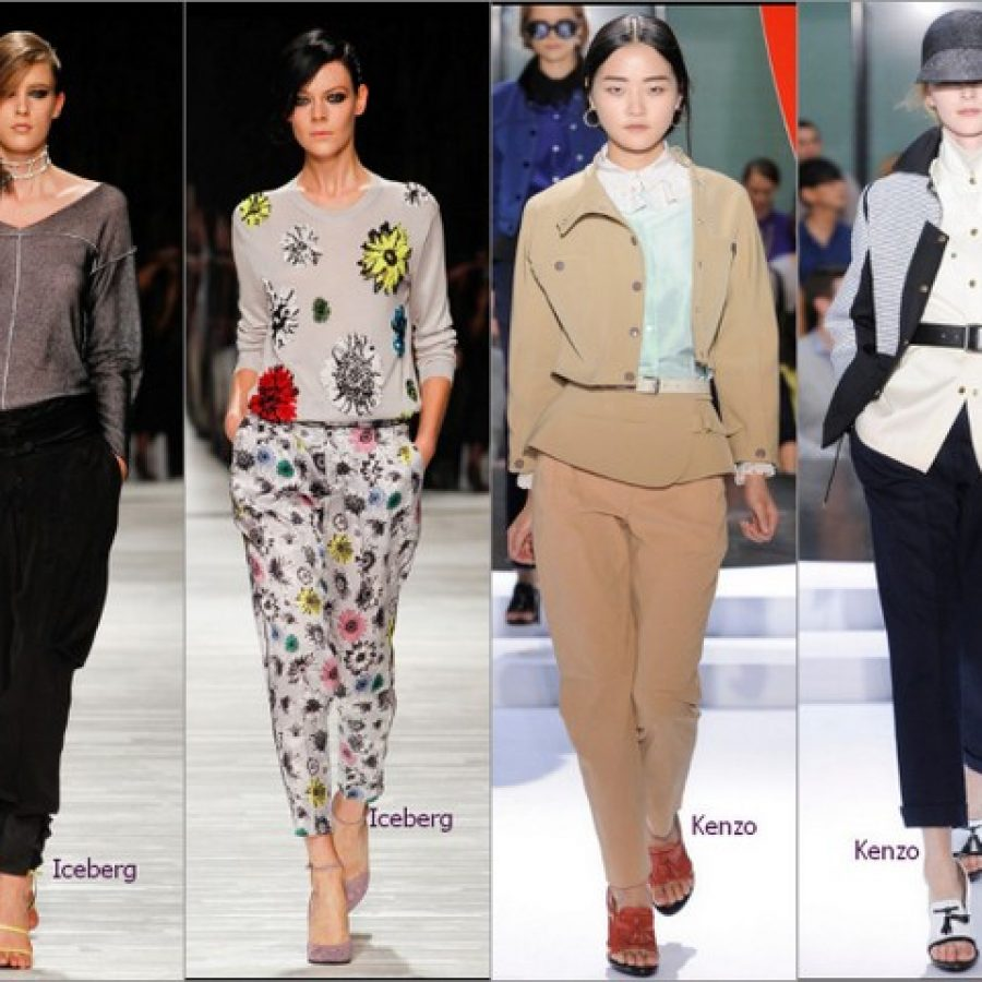 популярные бренды модной одежды, брюки весна-лето 2012