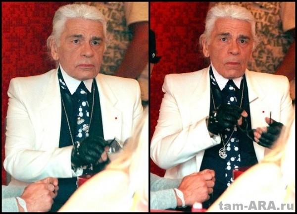 кутюрье Карл Лагерфельд (Karl Lagerfeld) без очков