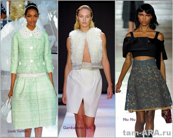 модные юбки на сезон весна - лето 2012