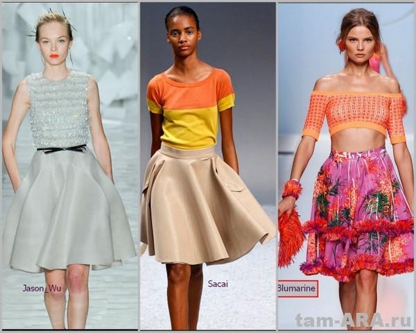 модные юбки лета 2012