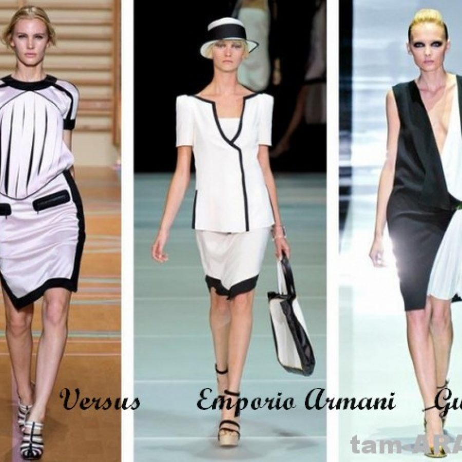 черный и белый тенденции на лето 2012