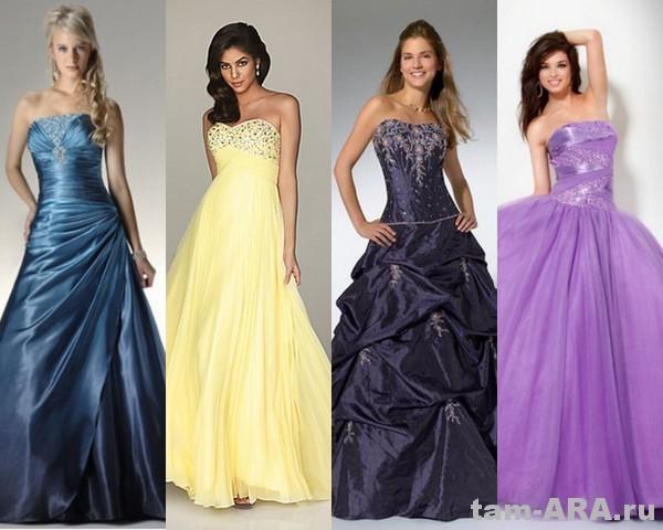 пышные выпускные модные платья 2012