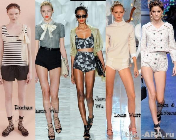 шорты, модные летом 2012