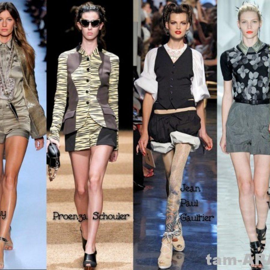 Шорты, модный тренд 2012