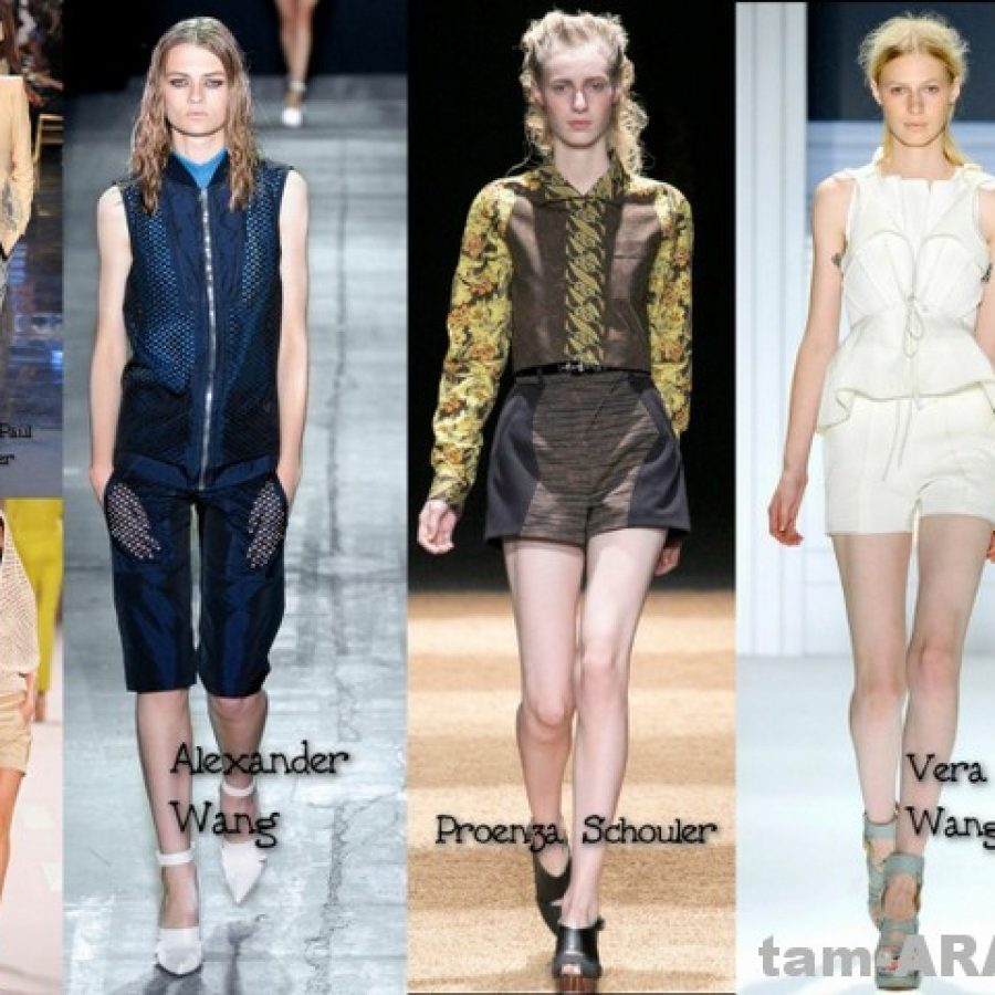 Шорты, модный тренд лета 2012.