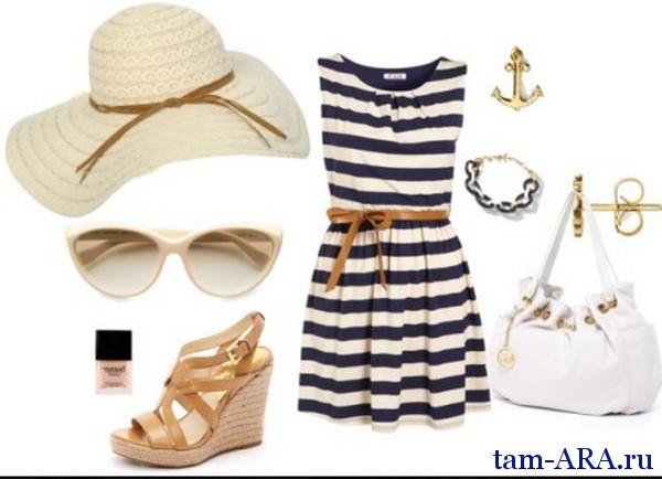 мода на морской стиль в одежде