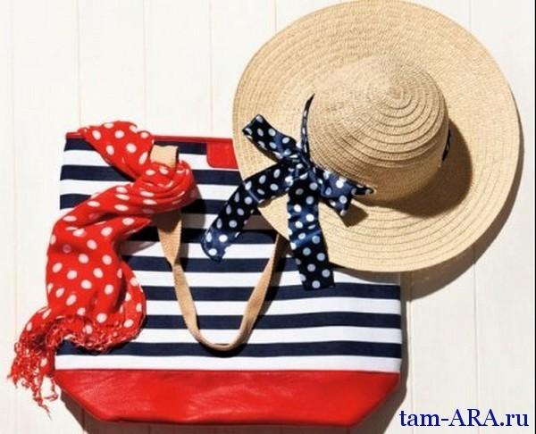модные аксессуары морской стиль в одежде