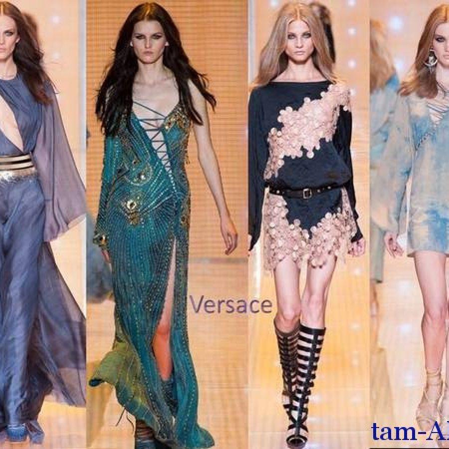 Versace весна-лето 2013, неделя моды в Милане