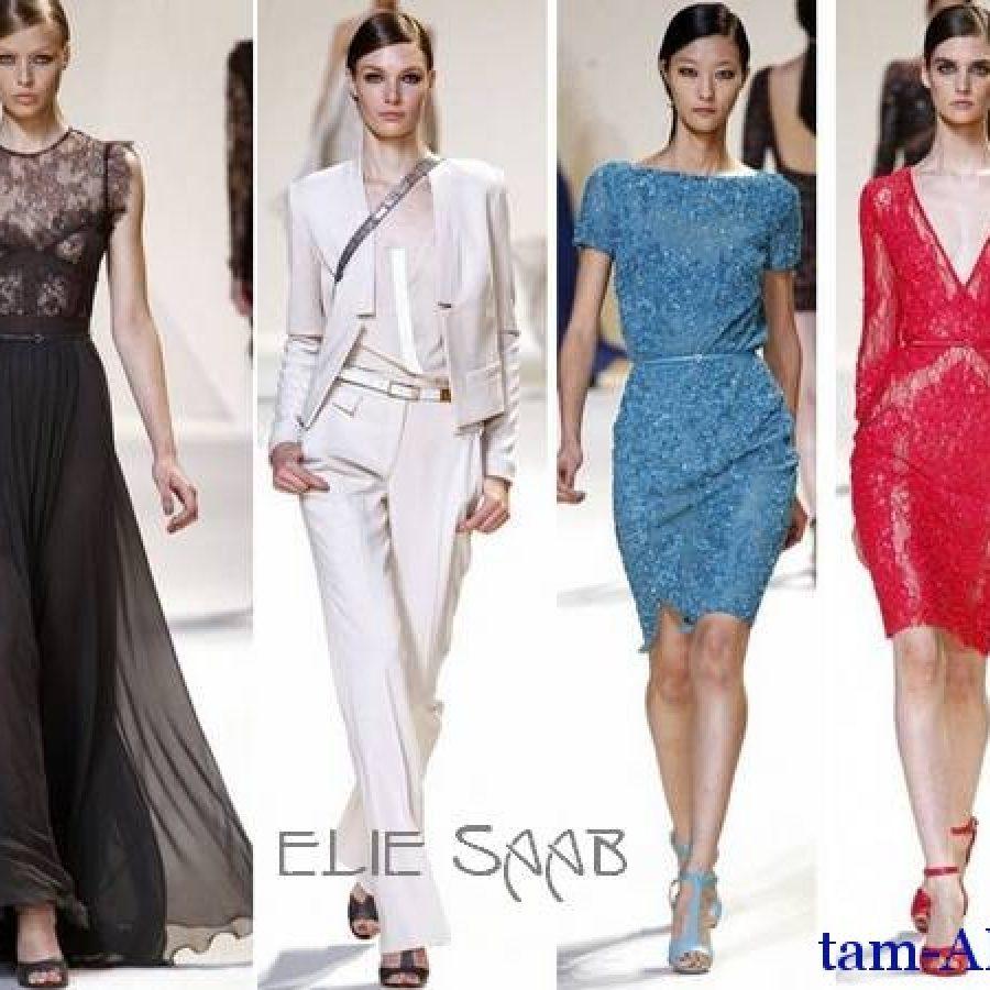 Коллекция дизайнера одежды Elie Saab весна-лето 2013