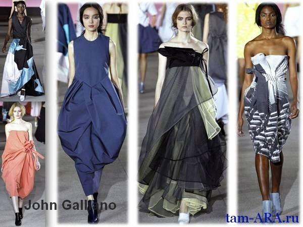 Париж John Galliano новая коллекция весна-лето 2013