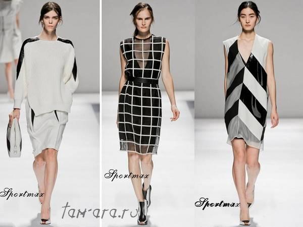 модные сочетание черного и белого
