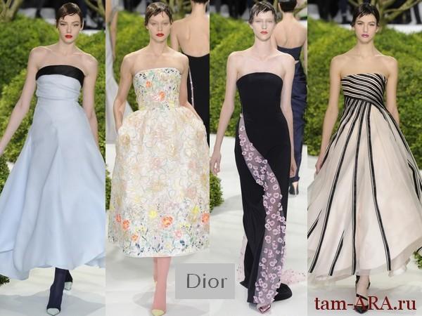 неделя высокой моды в Париже показ коллекции от Диор