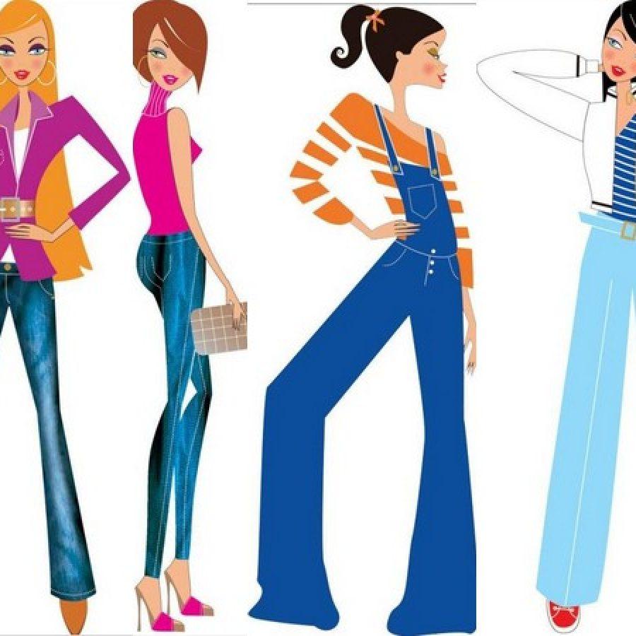 джинсы для разных типов фигур