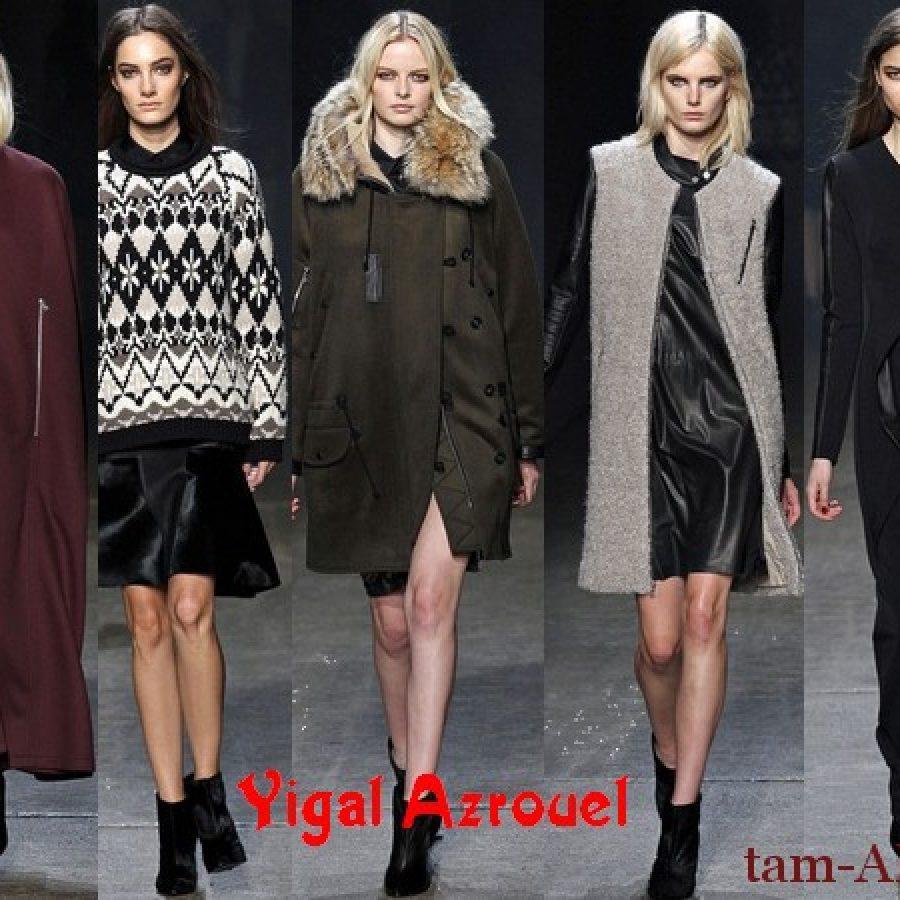 коллекция одежды дизайнера Yigal Azrouel осень-зима 2013/14
