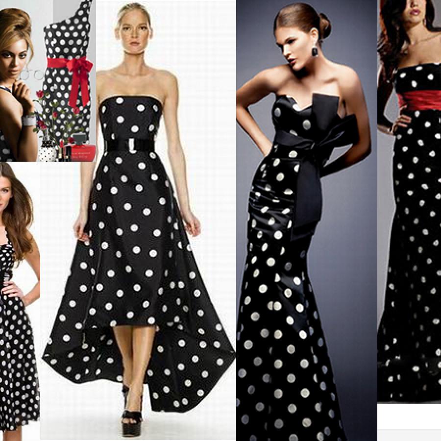 Как носить платье в горошек