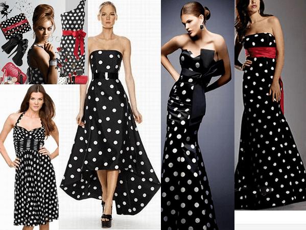 Макияж с платьем в горошек