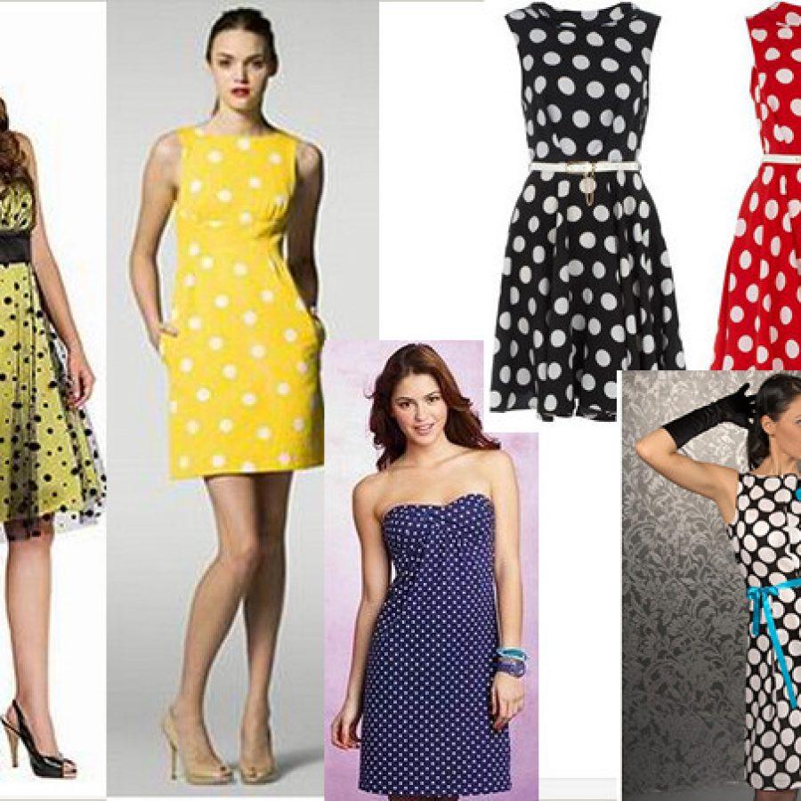 всегда модное платье в горох