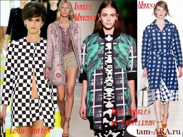 пальто весна 2013, геометрические принты