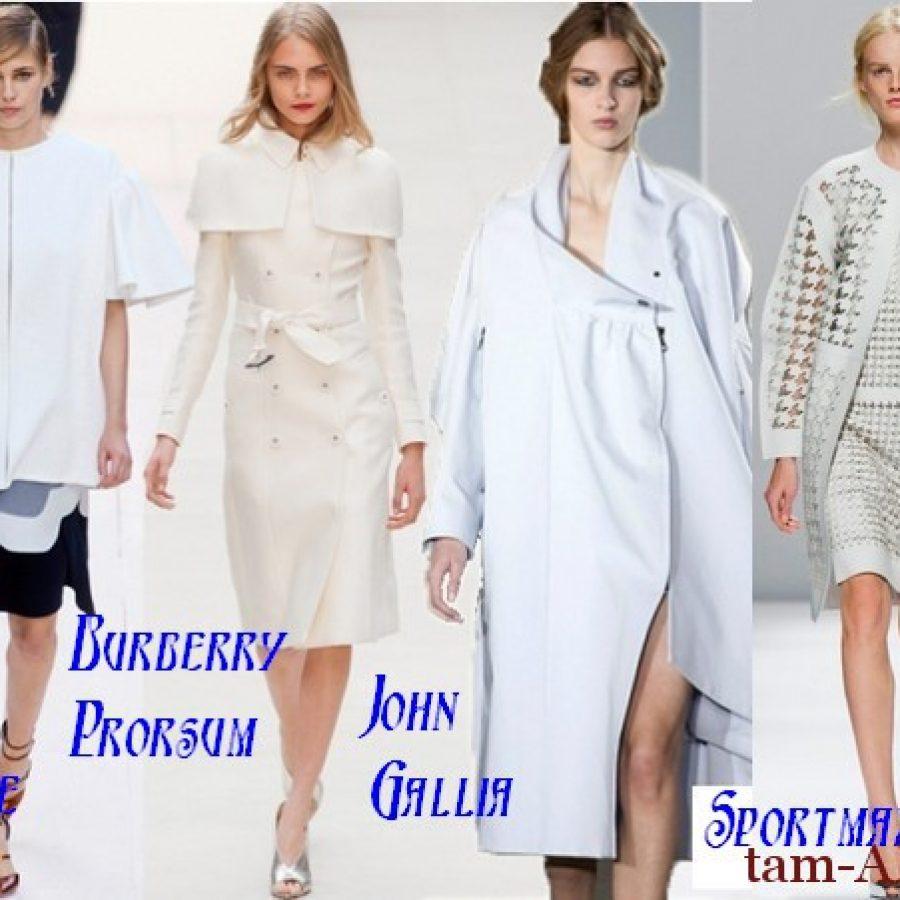 весна 2013 белое пальто