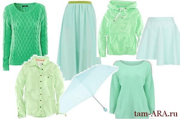 мятный цвет - тренд моды весна 2013