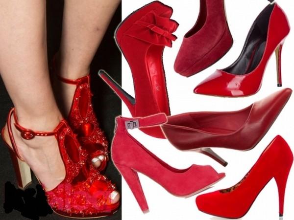 красные туфельки на день святого Валентина