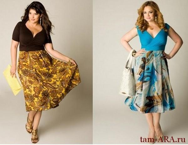 элегантное платье для полной женщины