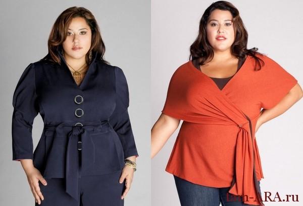стильная одежда для полной женщины