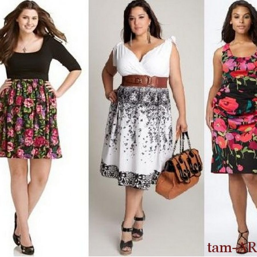 летняя одежда для полных девушек