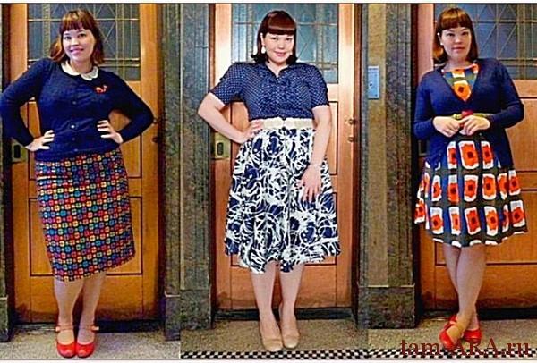 стильная одежда для полных дам
