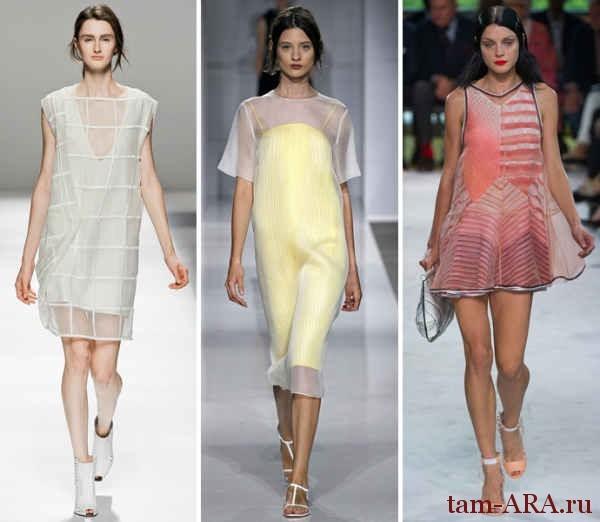 Marni и Sportmax  двухслойные платья лето 2013