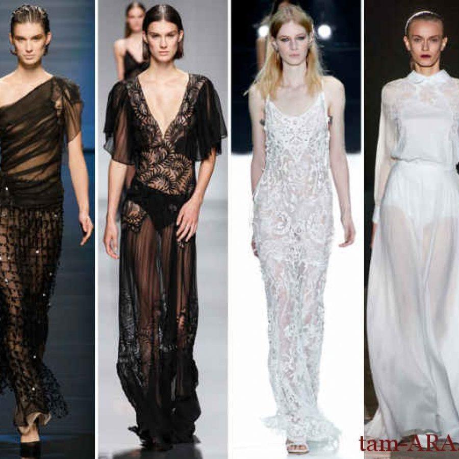 прозрачные платья тенденции моды на лето 2013