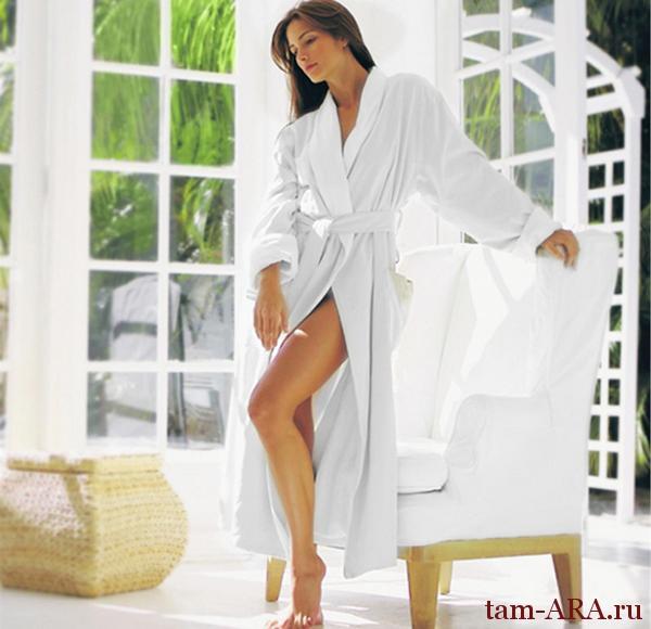 махровый халат для дома