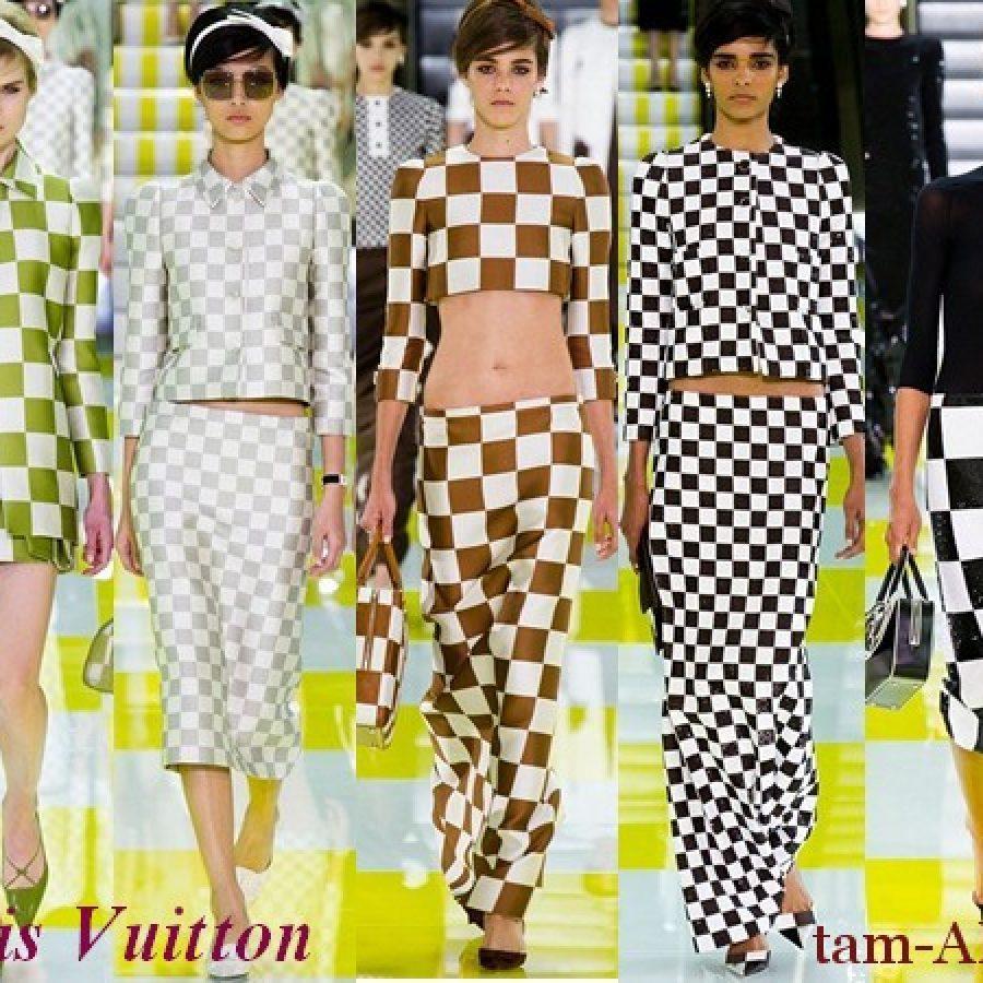 моднаяя юбка в клетку от Louis Vuitton