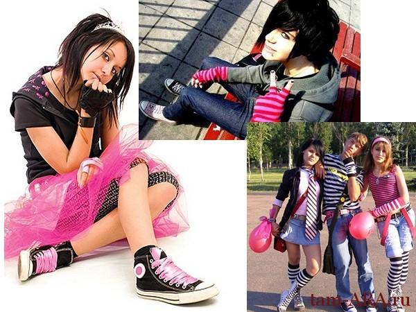 стили одежды молодежная мода эмо