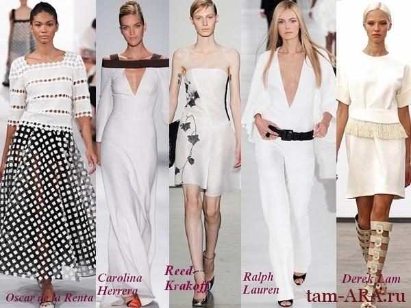 тренд сезона белый цвет весна-лето 2014