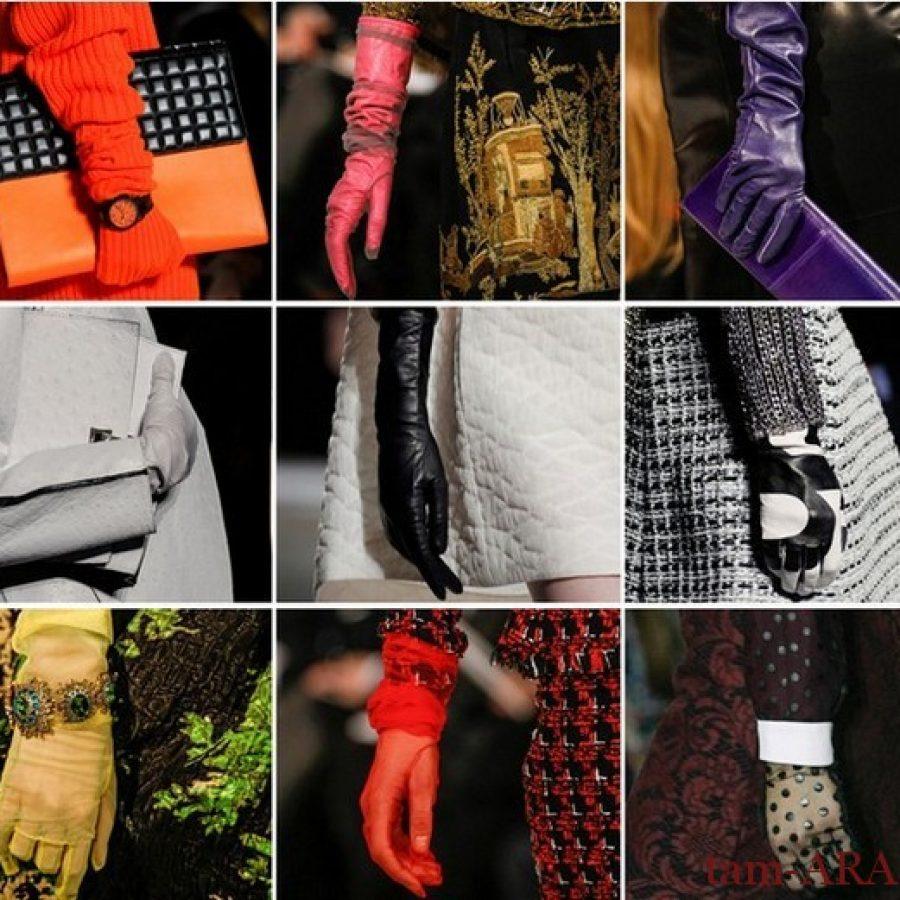 длинные перчатки - элегантный стиль